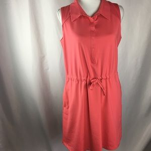 Talbots Coral Pink Polo Style Dress-Size Medium